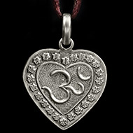 Om Locket in Pure Silver - Design VII