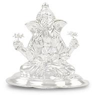 Dagdu Seth Ganapati in pure silver