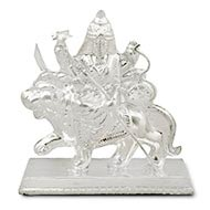 Maa Durga Idol in pure silver