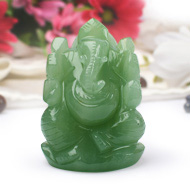 Ganesha in Light Green Jade - 230 gms