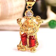 Lalbaugh Raja Pendant in Gold - 2.87 gms