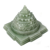 Light Green Jade shree Yantra - 1428 gms