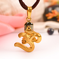 Om Locket in Pure Gold - I