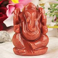 Red Jade Ganesha - 94 gms