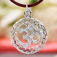Om Locket in Pure Silver - Design XVI