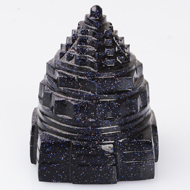 Shree Yantra in Blue Sun Stone - 176 gms