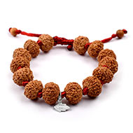 10 mukhi Narayan bracelet from Java in silk t..