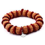 10 mukhi Narayan bracelet from Java in woolen..