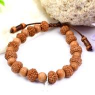 10 mukhi Krishna bracelet from Java with Sandalwood beads