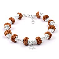 10 mukhi Narayan bracelet from Java with silv..