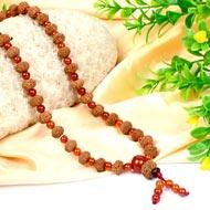 10 mukhi Narayan Mala  from Java with Carnelian beads