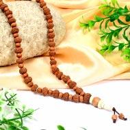 10 mukhi Narayan Mala  from Java with Sandalwood beads