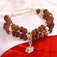 10 Mukhi Rudraksha and Pearl Bracelet - I (Sacral)
