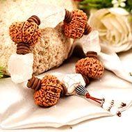 10 Mukhi and Crystal quartz gemstone bracelet (Sacral)
