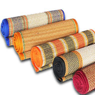 Kusha Grass Mat with Thread Work - 72 x 54 Inches