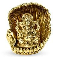 Brass Conch Ganesha