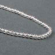 Diamond cut Sphatik mala - 4mm in thread