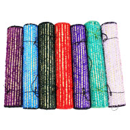 Kusha Grass Mat with multicolored Woolen Fibre