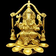 Ganesha with Aarti