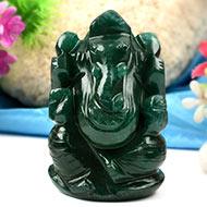 Green Jade Ganesha-136 gms