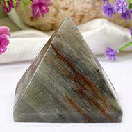 Pyramid in Grey Agate - 120 gms