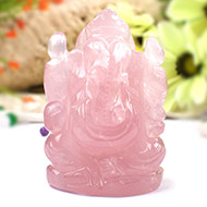 Rose Quartz Ganesha - 252 gms