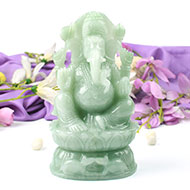 Ganesha in Light Green Jade - 1.610 kgs