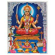 Goddess Santoshi Maa Photo - Large