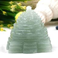 Light Green Jade shree Yantra - 210 gms