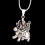 Durga Locket in pure silver - Big