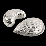 Almond and Cashew nuts in pure Silver