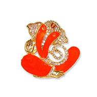 Ganesha in saffron
