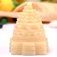 Ivory Yellow Jade Shree Yantra - 80 gms