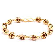 One mukhi from Java Indonesia in Gold Bracelet