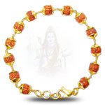 Rudraksha Bracelet in gold - Design III