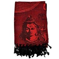 Shiv Parivar Shawl in Soft Jacquard Fabric