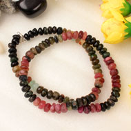 Multi Tourmaline Mala - Elliptical Beads