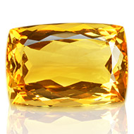 Yellow Citrine - 22 carats - Cushion
