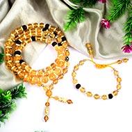 Yellow Citrine mala and bracelet (Solar)