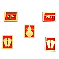 Shubh Labh Sticker - Set of 5 - Design I