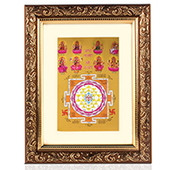 AshtaLakshmi with ShreeYantra frame