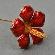 Red Jaswanti - Hibiscus in pure silver