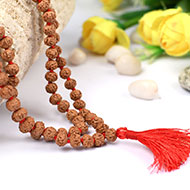 Rudraksha Mala 7mm - Semi Chikna Beads