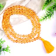 Citrine Mala - Round Faceted Beads
