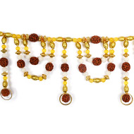Rudraksha with Yellow Jade Toran