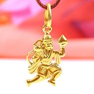 Lord Hanuman Locket in Pure Gold