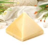 Pyramid in Natural Yellow Jade - 423 gms