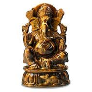 Tiger Eye Ganesha - 1.170 kgs