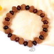 11 mukhi Ekadash bracelet from Java with Red Sandalwood beads