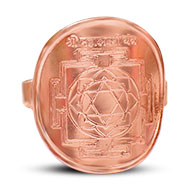 Shree Mahalakshmi Yantra Ring in Copper